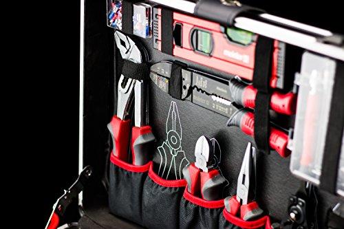 Meister Werkzeugtrolley 156-teilig ✓ Werkzeug-Set ✓ Mit Rollen ✓ Teleskophandgriff | Profi Werkzeugkoffer befüllt | Werkzeugkiste fahrbar auf Rollen | Werkzeugbox komplett mit Werkzeug | 8971440 - 6