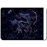 Antideslizante Alfombra De Baño,Sagitario Signo del zodíaco Arquero centauro horóscopo,Alfombra de Cocina Alfombra Mascota,Alfombras de Ducha 80x50cm