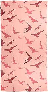 XiangHeFu Sciarpa di seta Scialle leggero Rondine Uccello Modello Silenziatore Avvolgere Chiffon lungo