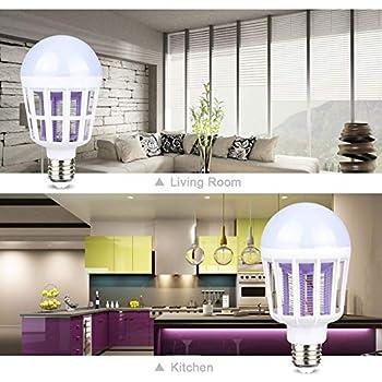 POOPFIY Ampoule de Tueur de Moustique de 220V LED E27 / Ampoule de B22 LED, insectifuge électronique d'ultrason de ménage de répulsif de Moustique,20w