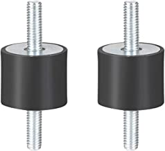 uxcell 25 x 20mm Rubber Mounts,Vibration Isolators,Shock Absorber with M6 x 18mm Studs 2pcs