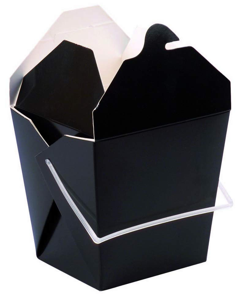 Mini to-Go Noodle Box with Handle and Foldable Lids (Case of 450