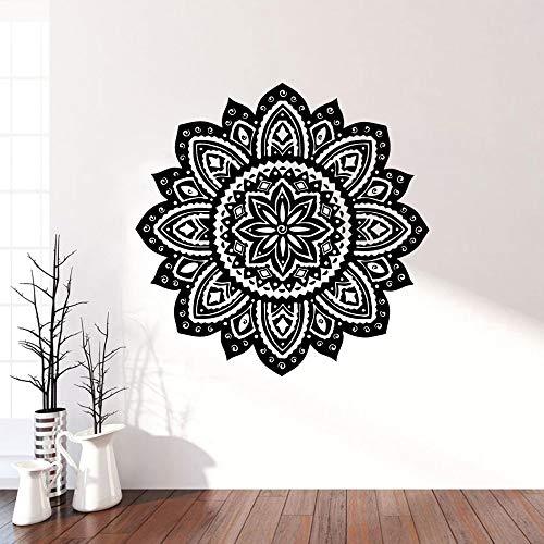 Tianpengyuanshuai Mandala Impermeable Pegatinas de Pared decoración del hogar meditación Yoga decoración de la habitación Pegatinas de Vinilo -85x84cm