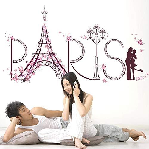 Creativa Torre Eiffel de París, sala de estar, dormitorio, baño, muebles, decoración, pintura de pared adhesiva, calcomanías, póster, pegatina