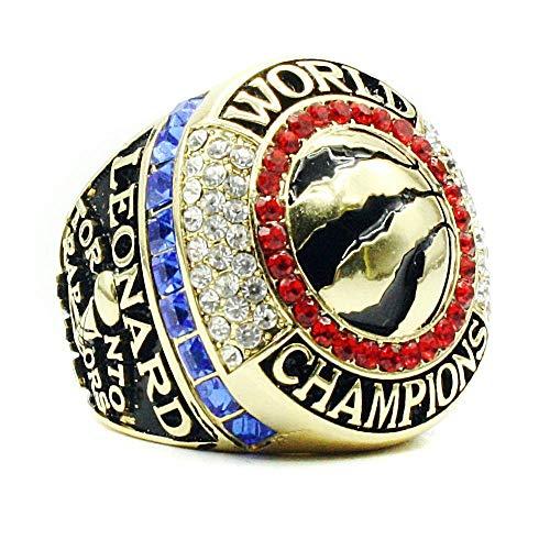 GJJ Campionato NBA Europa e America Anelli 2018 2019 Kawhi Leonard Toronto Raptors MVP Kawhi Leonard per Gli Appassionati di San Valentino, Regalo di Compleanno, Us-10