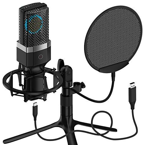 Yanmai, microfono professionale a condensatore per PC, portatile, Plug...