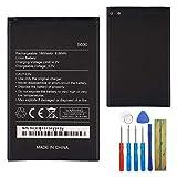 E-yiiviil WIKO 5030 - Batería de repuesto para Wiko Lenny 2 Lenny 3 (incluye herramientas)