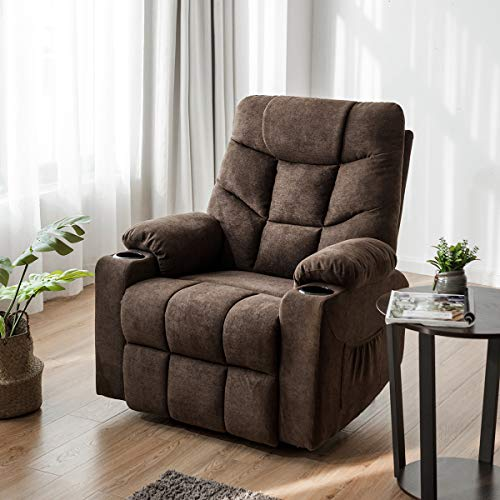 Giantex Power Lift Chair Electric Recliner Sofa for Elderly, Fabric Reclining Sofa w/ 8 Point Massage & Lumbar Heat, 2 Side...