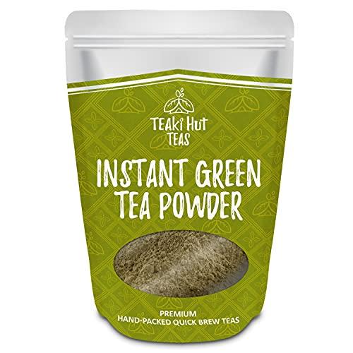 TEAki Hut Instant Green Tea Powder 4 Ounce (Pack for 113 servings), Natural Caffeine Powder, Unsweetened Green Tea
