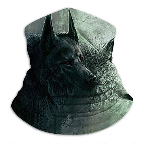zhouyongz Animal Wolf Art Cuello/Oído Calentador Esquí Bufanda Pasamontañas Pulsera Para Todo El Año
