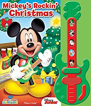 Disney Mickey Mouse Clubhouse - Mickey s Rockin  Christmas Sound book and Toy Guitar Set - PI Kids