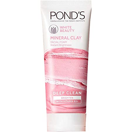 Pond's White Beauty Mineral Clay Instant Brightness Face wash Foam 40g