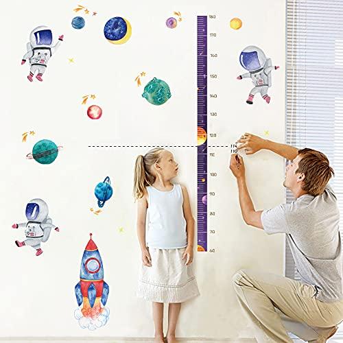 YCYY Espacio Astronauta Pasta de Altura habitación de los niños Regla de Altura de medición Dormitorio Pasta de Pared de Sala de Estar