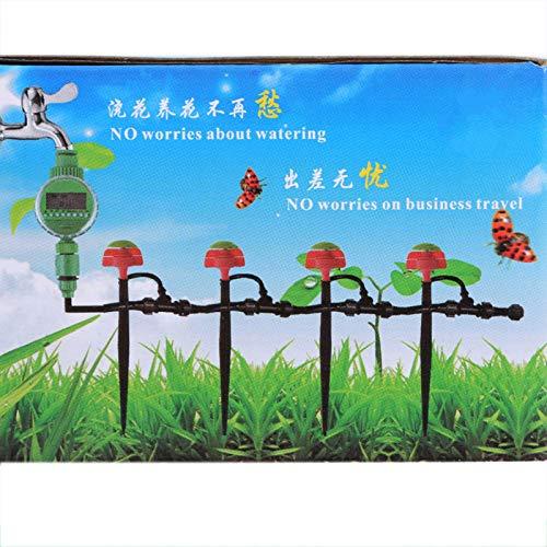 Hztyyier Temporizador de riego Digital, Temporizador de riego de Grifo de riego programable, Controlador de Temporizador de riego para jardín al Aire Libre, césped, Sistema de riego por Goteo