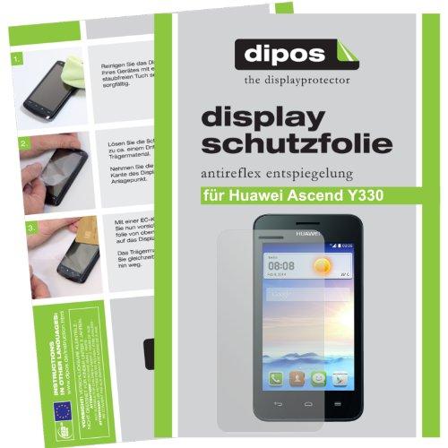 dipos I 2X Schutzfolie matt kompatibel mit Huawei Ascend Y330 Folie Bildschirmschutzfolie