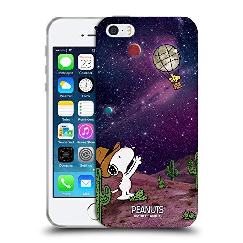 Head Case Designs Licenza Ufficiale Peanuts Nebulosa Palloncini Woodstock Snoopy Cowboy Spazio Cover in Morbido Gel Compatibile con Apple iPhone 5 / iPhone 5s / iPhone SE 2016