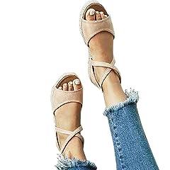 5d465d83d3be5 Peep toe wedges sandals - Casual Women's Shoes