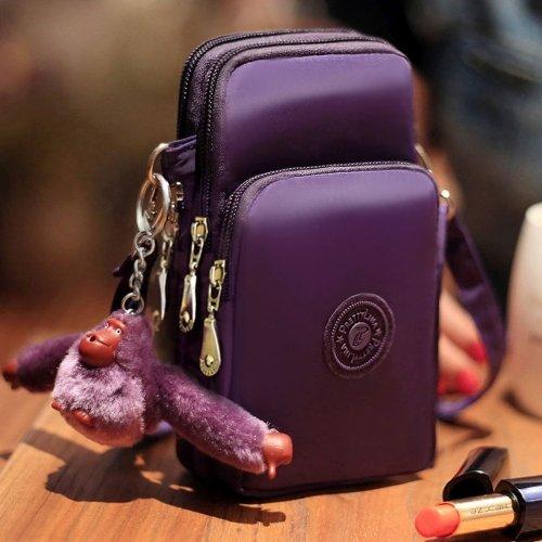 alsatek Universal tas schoudertas gemaakt van stof polystyreen voor LG K3 violet