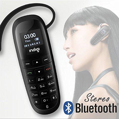 inDigi Mini Wireless Handsfree Smart Bluetooth Phone Headset Dialer Keys Caller ID LCD A2DP