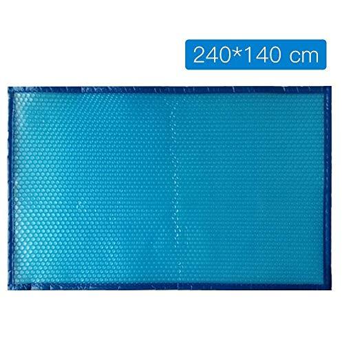 MDYHJDHYQ Pool-Abdeckung Schutz Pool-Abdeckung wasserdichte staubdichte Isolierung Film Perforierte Edging for Außenschwimmsport Gym (Color : Blau, Size : 240X140 cm)