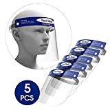 5-Pack Rush Deer Face Shield,Adjustable Anti-Fog Dental Full Face Shield with Protective Clear Film...