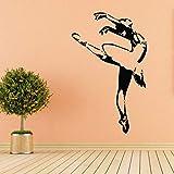 wZUN Pegatinas de Pared de Ballet, tutú de Ballet para niñas, Zapatos de Punta de Ballet, calcomanía de Pared de Barbie, decoración de habitación de Vinilo 85X54cm
