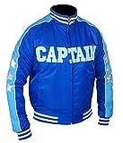 F&H Men's Suicide Squad Jai Courtney Captain Boomerang Varsity Jacket M Blue