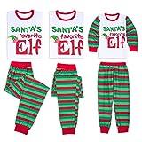 Pijamas Dos Piezas Familiares de Navidad, Conjuntos Navideños de Algodón para Mujeres Hombres Niño Bebé, Ropa para Dormir Verano Otoño Invierno Sudadera Chándal Suéter de Navidad (Mujer, L)