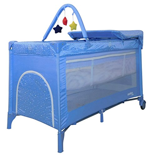Buy Discount Asalvo 16027 Travel Cot Complet Stars Blue, Multi-Colour