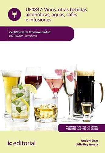 Vinos, otras bebidas alcohólicas, aguas, cafés e infusiones. HOTR0209