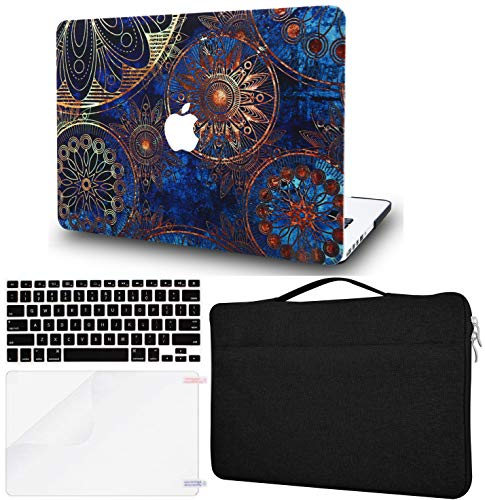 LuvCase 4in1 LaptopCase forMacBookPro 13'(2020/2019/2018/2017/2016) +/- Touch Bar A2159/A1989/A1706/A1708 HardShell Cover, Sleeve Bag, Keyboard Cover & Screen Protector (Bohemian)