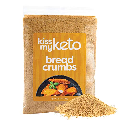 Kiss My Keto Bread Crumbs Zero Carb (0g Net) — Low Carb Keto Breadcrumbs | 6g Protein per Serving, Sugar Free | Low Calorie, Non-GMO & Soy Free — Golden Wheat, Plain (8 Ounce, Pack of 2)
