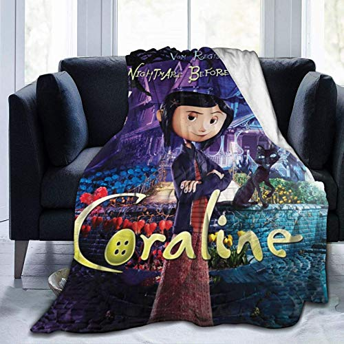 Jupsero Coraline Warm Throw Ultra-Soft Micro Fleece Manta Microfleece para sofá, Dormitorio, Dormitorio, reclinable