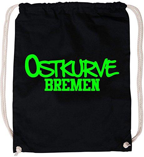 EZYshirt® Ostkurve Bremen Baumwoll Stoffbeutel