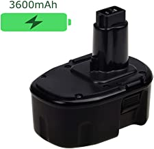 Upgraded to 3.6Ah 14.4V Replacement Battery for Dewalt XRP Ni-Mh DC9091 DW9091 DW9094 DE9091 DE9092 Cordless Power Tools