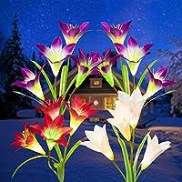 4-Pack Gigalumi Flower LED Solar Lights