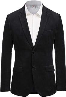 Paul Jones Men's Casual Corduroy Blazer Jacket Slim Fit Two-Button Sport Coat