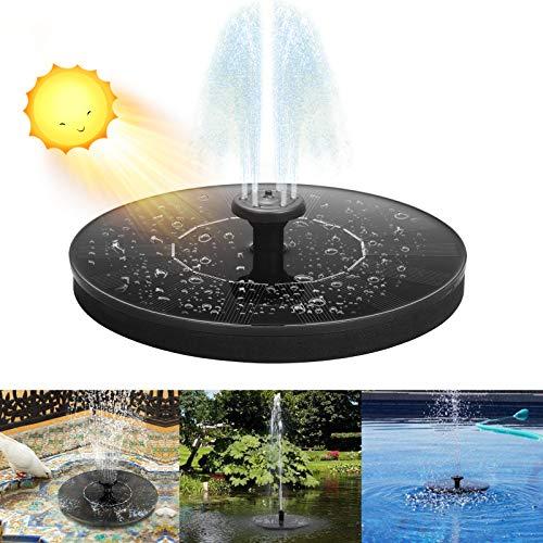 Infankey Solar Springbrunnen für Miniteich 1,4 W Solar Teichpumpe mit 4 Stützstangen und 6 Fontänenstile Solarbrunnen für Außen Garten, Vogelbad, Teich, Pool, Rasen, Terrassendekoration 2021 Upgrade