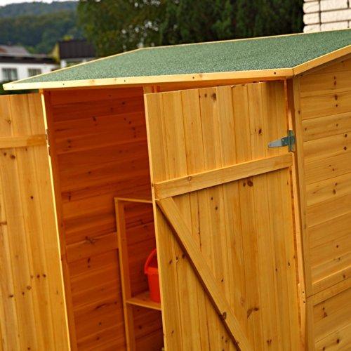 Melko Gerätehaus XXL Geräteschrank Geräteschuppen Gartenschrank, aus Holz, braun, 162 x 140 x 75 cm - 7