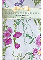 """Newbridge Wildflower Fields Vinyl Flannel Backed Tablecloth - Purple, Green and Yellow Wildflower and Fern Garden Indoor/Outdoor Picnic, BBQ and Dining Tablecloth- 60"""" x 120"""" Oblong/Rectangle [並行輸入品]"""