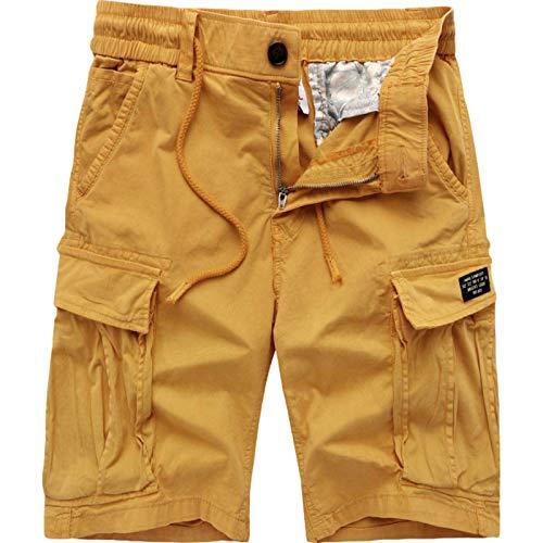 Pantalones Cargo Casuales de Verano, Pantalones Cortos Rectos Sueltos de Color sólido de Tendencia de Verano, Pantalones Casuales de Moda de Calle, con Bolsillos múltiples 36