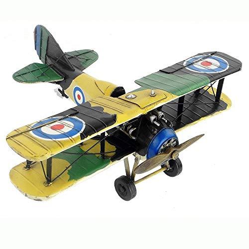 WMMDM Retro Metall Flugzeugmodell, Ersten Weltkrieg in Großbritannien Schlacht Camel Biplane, Desktop-Dekoration