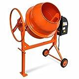 Hormigonera eléctrica de acero con naranja 140 L 650 W