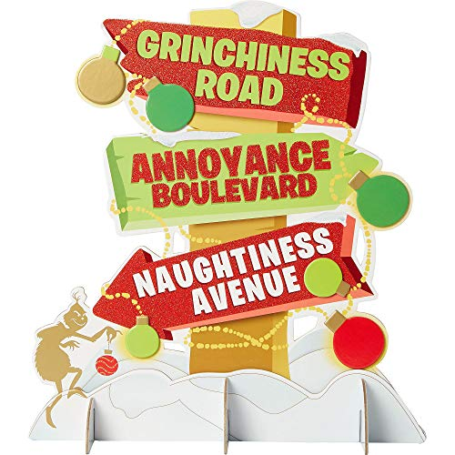 Amscan The Grinch Centerpiece, Christmas Decorations, Holiday Party Supplies, 12 1/2