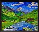 Uhomate A166 Kunstdruck, Rocky Mountain River Landschaft,