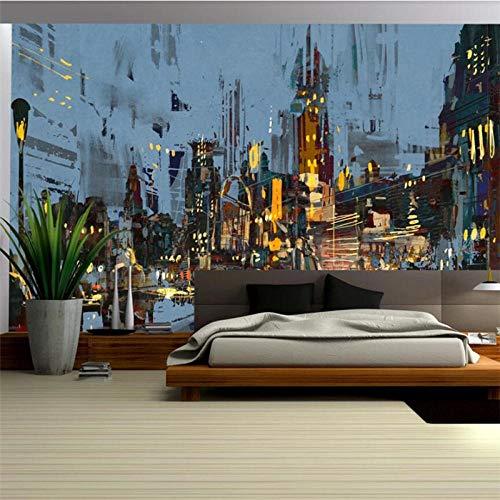 Fondo de TV con vista nocturna de ciudad abstracta HD personalizado, papel tapiz mural grande para dormitorio personalizado, pegatina de coche, papel tapiz 3d-450X300cm