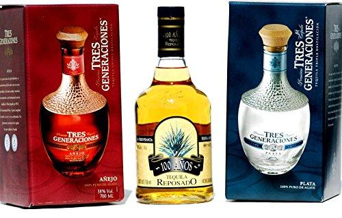 Sauza Tequila 3er SET, Reposado,anejo, Plata