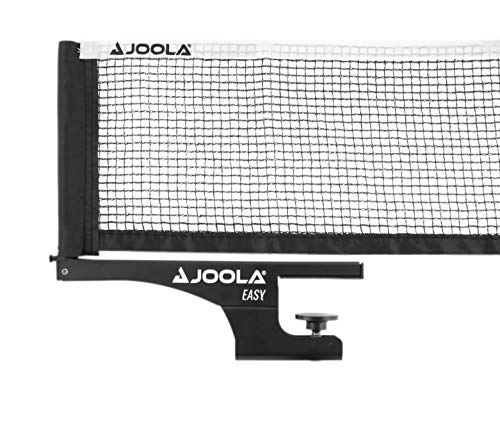 JOOLA Tischtennisnetz Easy-Indoor Garnitur Freizeitsport - Netzspannung verstellbar, Schwarz, 183 CM x 15,25 CM