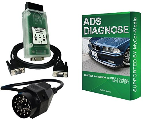 MyCor-Media ADS Diagnose Interface für BMW OBD1 OBD2 EDIABAS INPA Rheingold Diagnosegerät