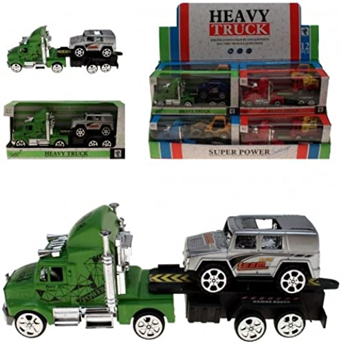 Kingdiscount 96 Stück fürzeuge Truck mit Anh er 23 cm